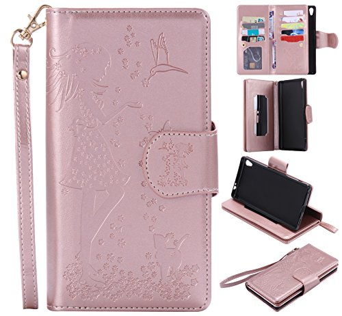 sony-xperia-xa-ultra-case-leather-cash-and-9-card-slots-cozy-hut-elegant-woman-and-cat-patterned-emb