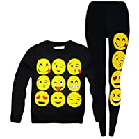 Jolly Rascals Girls Emoji Felpa e Leggings
