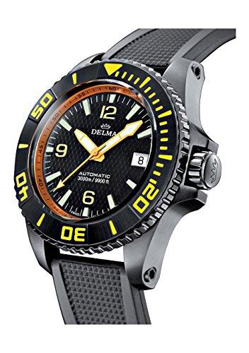 DELMA - Blue Shark II Black Edition - Taucheruhr - Ø 47 mm