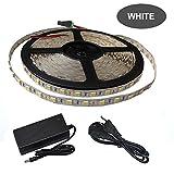 NILSTOREY 5m Wasserdicht LED Strip 300 LEDs 5050smd, 12V Netzteil (Weiße)