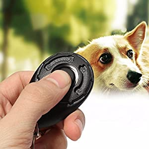 Black Pet Dog Chien Puppy Click Clicker Training Trainer obedience Aid Teaching Tool