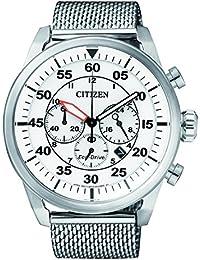 Citizen Herren-Armbanduhr Chronograph Quarz Edelstahl CA4210-59A