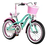 BIKESTAR® Original Premium Design Kinderfahrrad für coole Kids ab 4 Jahren ★ 16er Deluxe Cruiser Edition ★ Pepper Mint