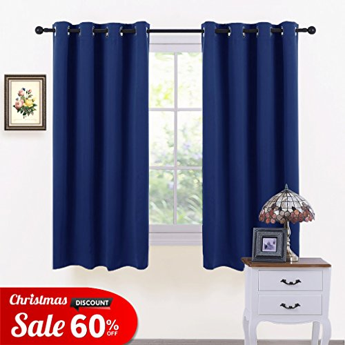 Window Treatments Eyelet Blackout Curtains   PONY DANCE Thermal Insulated  Top Ring Kitchen Short Curtain Drapes For Bedroom / Room Darkening U0026 Energy  Saving ...