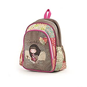 51w9SV3lqNL. SS300  - Anekke Schulrucksack/Backpack mit 2 Reißverschlussfächern Sweet Mochila Tipo Casual, 35 cm, 12 Liters, Multicolor (Sweet)