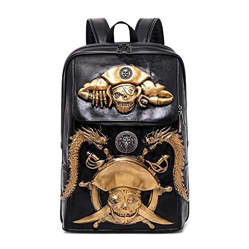 Preisvergleich Produktbild Laptop-Tasche Outdoor-Reiserucksack Piratenrucksack Business Notebook Trend Fan Gold 20 Zoll