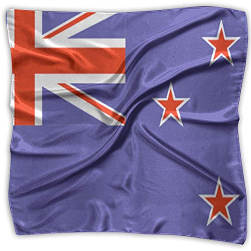 New Zealand Flag Fashion Women Floral Printed Lady Square Scarf Head Wrap Kerchief Neck Satin