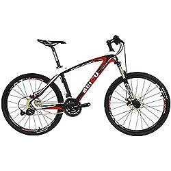 BEIOU® Bicicletas Rígidas de bicicletas de montaña de 26 pulgadas 3x9 Shimano SRAM velocidad de freno Ultraligero completa del marco del carbón MTB Ready Ride CB014A