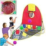 Tragbar Ball Shooting Zelt, Kid zusammenklappbar Pop Up Spielen Zelt Ziel Basketballkorb Shooting Zelt mit 4Kugeln, innen- und großen Raum Sport Arcade Playhouse für 1–6Jahre alten Jungen/Mädchen