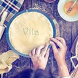 Footprintse Wiederverwendbare Silikon Pizza Crust Shield Einstellbare BPA-freie Flexible Pie Baking Zubehör für Rimmed & Standard-Gerichte-Farbe: blau