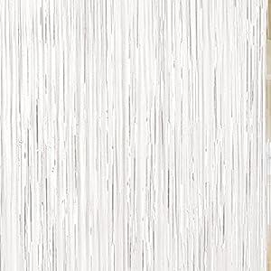 Amscan International-242000-0891cm x 2,43m blanco cortina para puerta