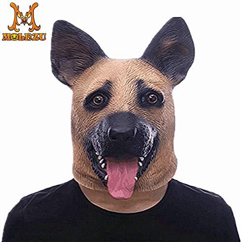 Kind Kostüm Deluxe Werwolf - YWJ Deluxe Neuheit Halloween Kostüm Party Latex Tier Hundekopf Maske
