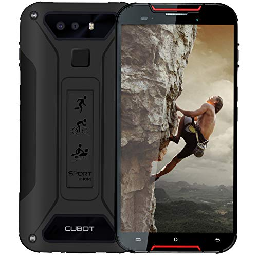 CUBOT Quest Lite Rugged Smartphone 5 Pollici Corning Gorilla 5th Impermeabile IP68 Antipolvere Antiurto, 3GB+32GB, Android 9, 3000mAh Type-C Ricarica Rapida Face ID, 4G LTE Cellulare Rosso