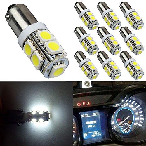 TABEN Super Bright 5050 9-ex Garde Toujours BA9 BA9S 53 57 1895 64111 Ampoules LED utilisé pour Porte latérale Courtois lumières Carte Lampes Blanc 12 V (2-Pack)