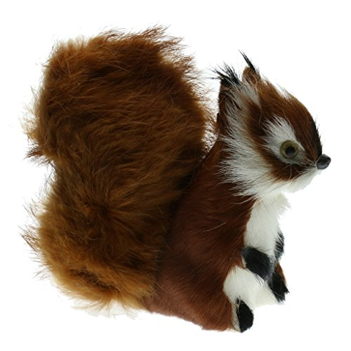 Baoblaze Mini Dekofigur Eichhörnchen Tierfigur Gartendeko Squirrel Dekotier - c, 10x 6X 11cm -