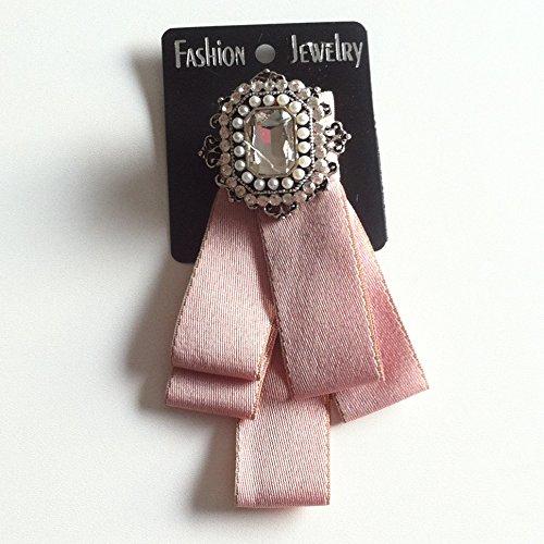 Blogger Fashion Damenschleife Fliege Schleifenbrosche Schmuckschleife Glitzer Kristall (Bluse Befestigt)