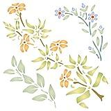 Creeper Schablone-wiederverwendbar Klettern Blumen Blätter Flora Wand Schablone-Vorlage, auf Papier Projekte Scrapbook Bullet Tagebuch Wände Böden Stoff Möbel Glas Holz usw. Größe S