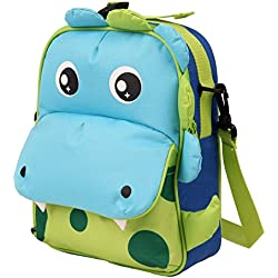 Babyhugs® Kids infantil bolsa de almuerzo de 3Vías multifuncional Animal Mochila Preescolar Cooler Cool fiambrera Bolso de escuela verde 3-Way - Cute Dragon