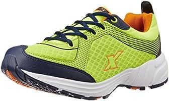 Sparx Men's SX0213G Fluorescent Green and Orange Running Shoes - 9 UK (SM-213)