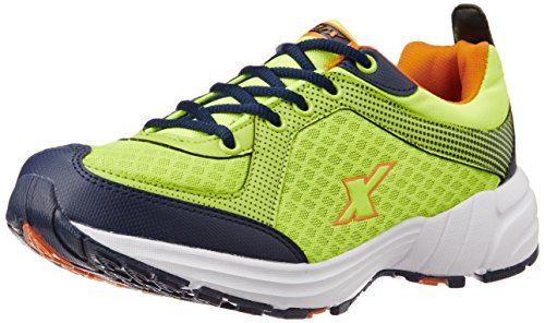 Sparx Men's SX0213G Fluorescent Green and Orange Running Shoes