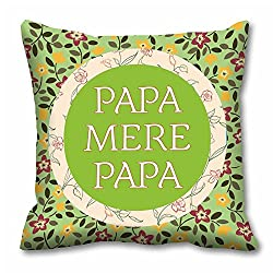 meSleep Papa Mere Papa Cushion Cover (16x16)