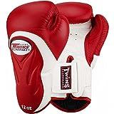Twins Boxhandschuhe, Premium, BGVL-6, Rot-weiß, 14 Oz