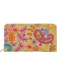 Indian Banjara Hand Clutch Purse Designed With Multi Color Floral Embroidery (Multi Veg Color)
