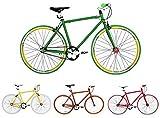 Micargi, Biciclettada Corsa da 71 cm, Singola velocità, a Scatto Fisso, Altezza Telaio 48cm, 53 cm, Gelb RH 48cm