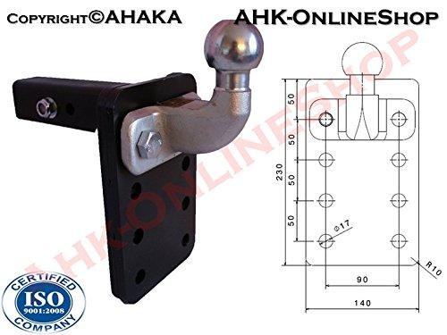 AHK US-ADAPTER 50x50mm Anhängevorrichtung Anhängerkupplung höhenverstellbar ISO 50 Kugelkopf