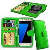 N4U Online® Posh Titan Max HD E550 PU-Leder-Clip-Mappen-Kasten-Abdeckung mit Kreditkarte, Notes & ID Slots - Grün