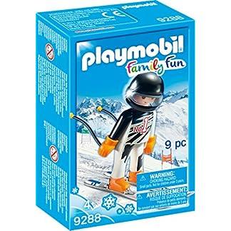 Playmobil-9288 Esquiador, Negro, Naranja, Color Blanco, única (9288)