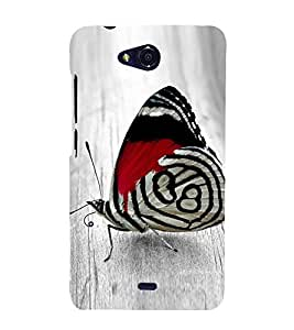 Fiobs Designer Phone Back Case Cover Micromax Canvas Spark Q380 ( Colorful Butterfly Pattern Design )
