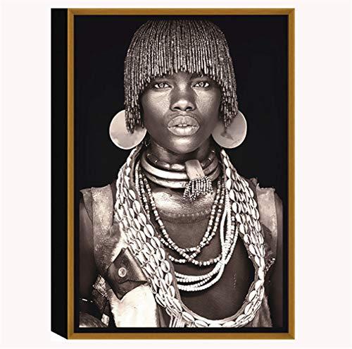 Gris Moderne Sauvage Homme Africain Et Femme Sexy Peinture...