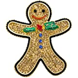 Butler and Wilson Large Crystal Gingerbread Man Brooch Topaz