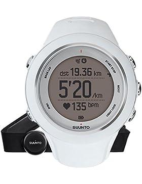 Suunto Unisex Ambit3 Multisport GPS-Uhr, 15 Std. Akkulaufzeit, Herzfrequenzmesser + Brustgurt (Gr. M), Wasserdicht...