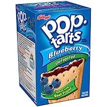 Kelloggs Pop-Tarts Blueberry Unfrosted 8 piece (416g)