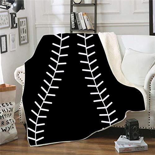 Fgvbwe4r 3d ball sports sherpa coperta velluto peluche coperta in pile copriletto divano divano copripiumino coperta da viaggio, 16,150 * 130