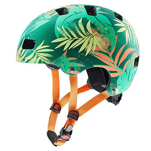 Uvex Kid 3 CC Kinder Dirtbike Skate Fahrrad Helm grün/orange 2019: Größe: 55-58cm