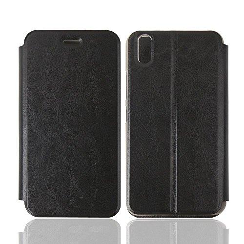 Ulefone Paris Hülle,iBetter Schutzhülle Bookstyle für Ulefone Paris Smartphone Flip Standfunktion Cover Hülle Case, Schwarz