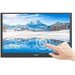 Écran tactile ultraplat de 15,6 pouces G-STORY, moniteur portable FHD 1080P TN, connectivité directe NS / Mini HDMI / Haut-parleurs intégrés / HDR / FreeSync / USB-C / 60 Hz