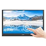 G-STORY Touchscreen ultrasottile da 15,6 pollici, monitor portatile FHD 1080P TN panel, NS connessione diretta/Mini HDMI/altoparlanti integrati/HDR/FreeSync/Tipo-C/60Hz