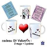 Best Ensembles Toujours Vaisselle - Saint Valentin-2 Mugs à personnaliser avec Prénom-plus poème-Toujours Review