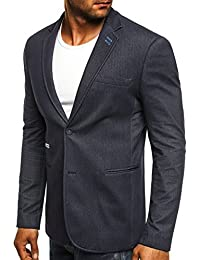 OZONEE Herren Sakko Business Anzug Kurzmantel Klassische Anzugjacke Jacket Blazer OZN 155506
