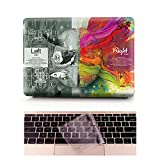 Coque MacBook Pro Occasion Prix - L2W Laptop Ordinateur Case Plastique Coque Rigide Housse pour Apple MacBook Pro Retina 13 pouces [Modèle:A1502/A1425] Incluant Transparent couvercle du clavier,Science du cerveau