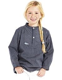 Fischerhemd Basic schmal gestreift Kinder Skipper