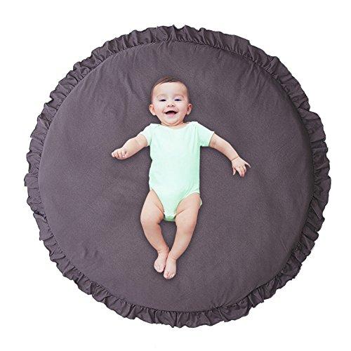 Pueri Kinder Baby Spielmatte Runde Teppich Kriechmatte Spielzelte Dekoration fürs Kinderzimmer...