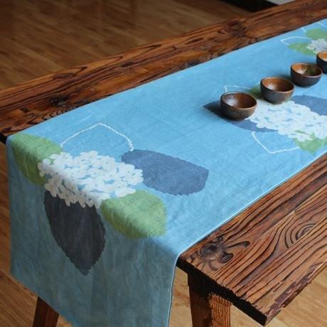 XXFFH?Napperons Chemins de table japonais manuellement Impression et la teinture