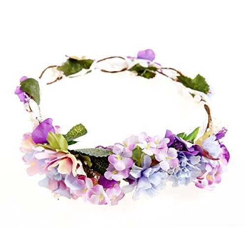 Handmade Flower Crown Floral Wreath Headband Floral Garland Headbands for Wedding Festivals Ever Fairy®