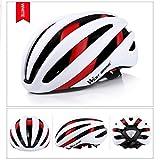 West Radfahren Bike Helm für Erwachsene Frauen Herren, Bluetooth Fahrrad Sicherheit Helm mit Rücklicht, Kinder Herren damen, weiß / rot