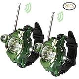 CAR SHUN Kids Walkie Talkies, Zwei-Way Radio Walky Talky Uhren mit Taschenlampe Kinder Outdoor Interphone Spielzeug-Geschenke für Boy und Girls-2pcs